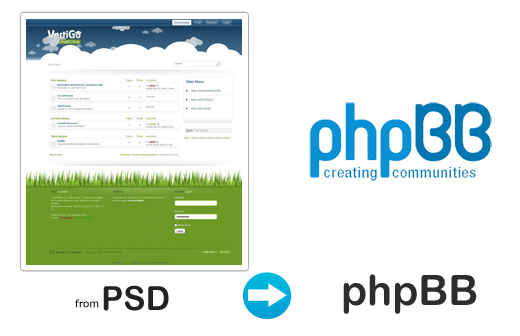 Psd To Phpbb Convert Photoshop Template To Phpbb Forum Theme 100